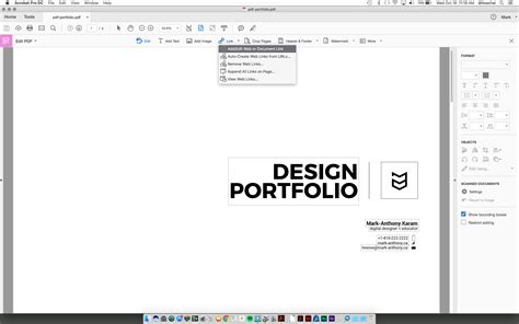 create a pdf portfolio using adobe illustrator