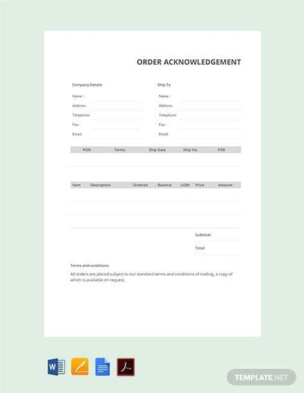 order templates  word excel google