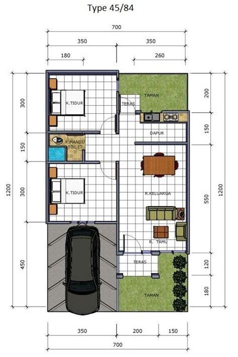 model desain denah rumah minimalis sederhana type