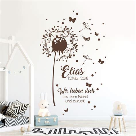 Wandtattoo Kinderzimmer Pusteblume by Wandtattoo Babyzimmer Pusteblume Geburtsdaten Zitat
