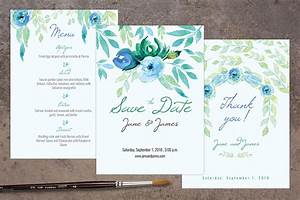 blue wedding invitation pack invitation templates on With wedding invitation designs in photoshop