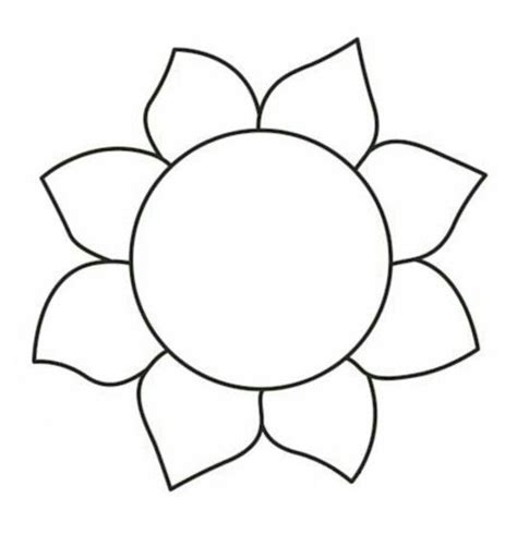 sunflower handed quilting templates sunflower template