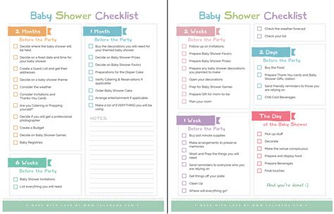 list for a baby shower the only baby shower checklist you will need tulamama