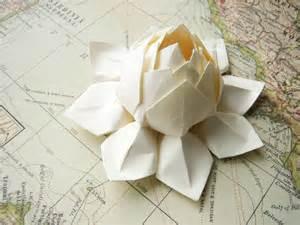 handmade wedding gifts lotus flower handmade origami paper flower all by fishandlotus
