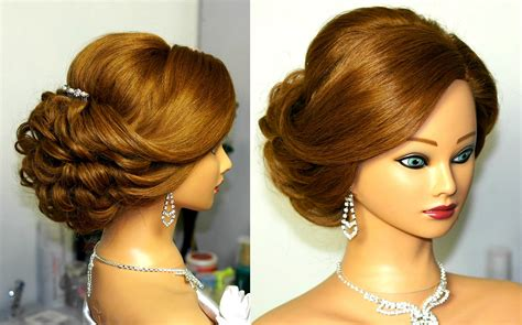 Wedding For Medium Hair : Bridal Updo. Romantic Hairstyle For Medium Hair.