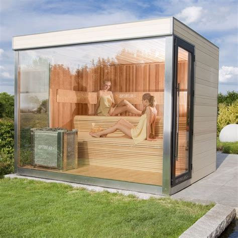 Outdoor Sauna Bauen by Optirelax Vip Gartensauna Deluxe Sauna Outdoor Sauna