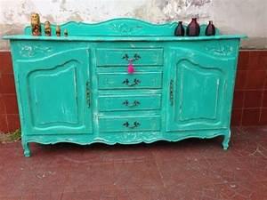 CÓMO PINTAR DETALLES RÚSTICOS en muebles vintage Color menta, turquesa, rosa en madera