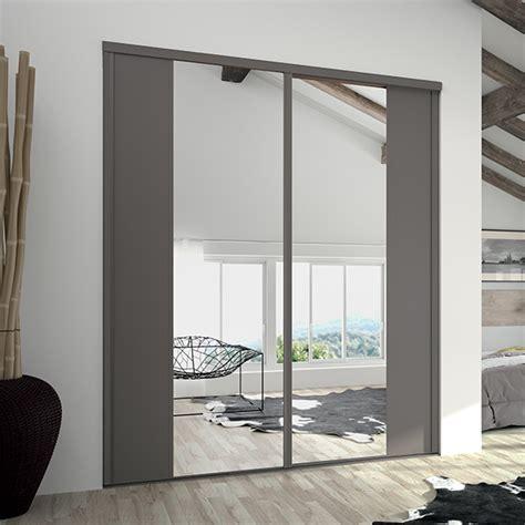 armoire chambre porte coulissante miroir placard sur mesure coulissant pliant et pivotant kazed