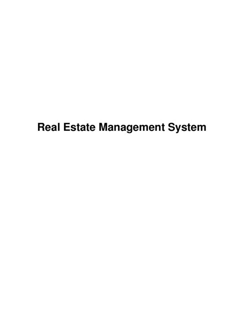 real estate management system  readymade projects issuu