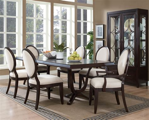 dark brown dining table  chairs modern formal dining