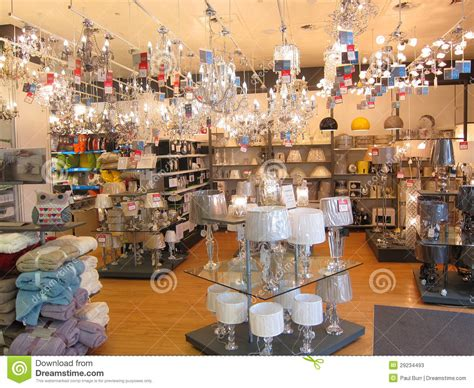 lighting department in a store editorial stock photo