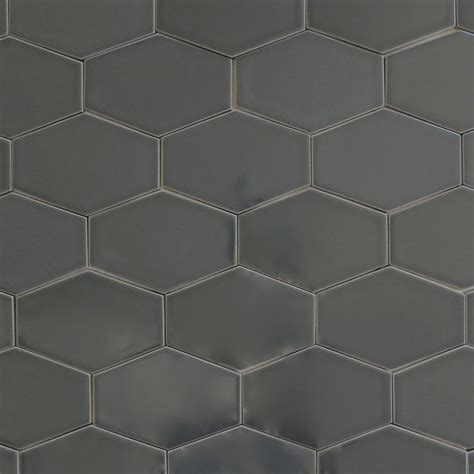 how to tile a backsplash in kitchen clayhaus stretch hex carbon gray ceramic tile our 9581