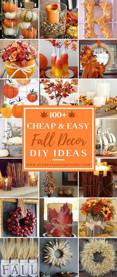diy fall decorations ideas 100 cheap and easy fall decor diy ideas prudent penny pincher