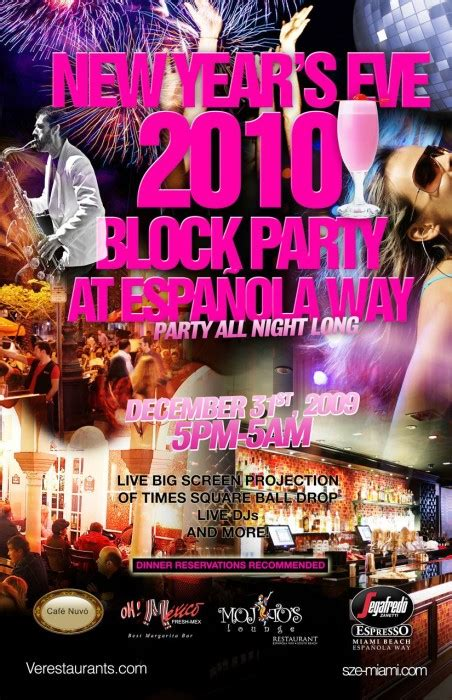 New Years Eve Espanola Way Block Party Times Square Ball