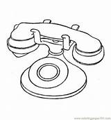 Telephone Coloring Phone Printable Radio Drawing Electronic Electronics Booth Technology Telecom Pdf Tablets sketch template