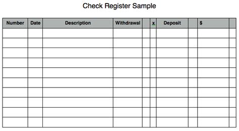 microsoft excel check register template 5 check register templates formats exles in word excel