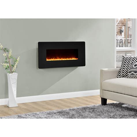 dorel kenna black  wall mount fireplace