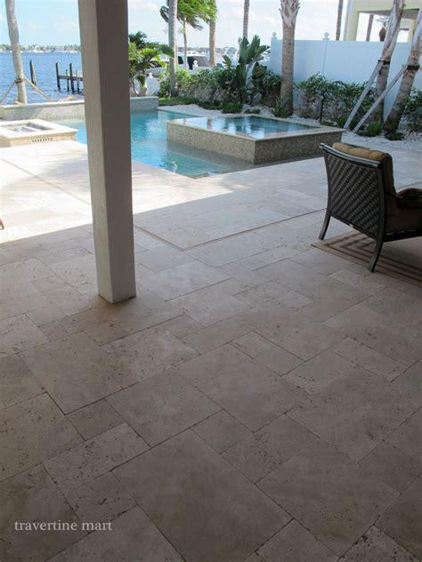 french pattern travertine pool modern  flooring