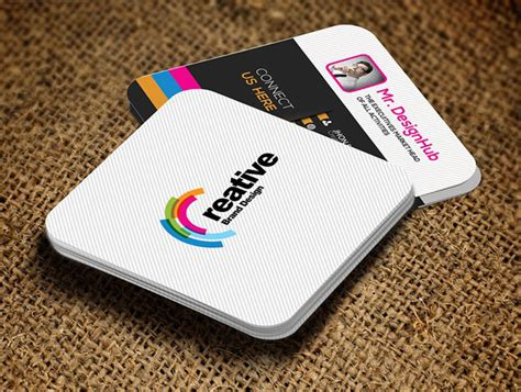 22 Mini Square Business Card Psd Templates Design