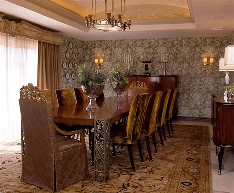 art deco dining table Dining Room Modern with arm chair