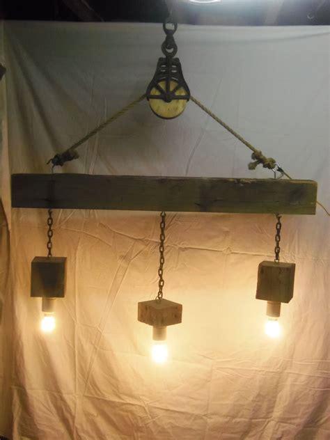 beam wood light fixture  pulley pendant light id lights