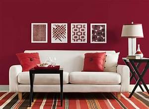 Deco Design Salon : une d co de salon avec du temp rament chaud en rouge ~ Farleysfitness.com Idées de Décoration