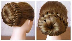 Coiffure Tresse Facile Cheveux Mi Long : chignon tress facile tuto coiffure simple cheveux mi ~ Melissatoandfro.com Idées de Décoration