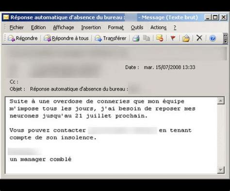 exemple message absence bureau mail absence maladie bureau 28 images comment cr 233 er une r 233 ponse d absence