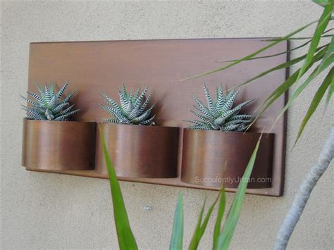 metal wall planters metal wall planter succulents