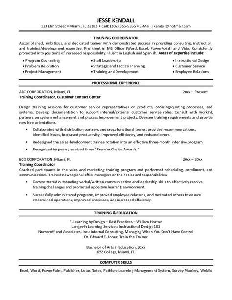 coordinator resume free resume templates