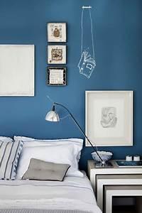 Chambre Gris Et Bleu : chambre bleu gris peinture bleu cyclade ~ Melissatoandfro.com Idées de Décoration