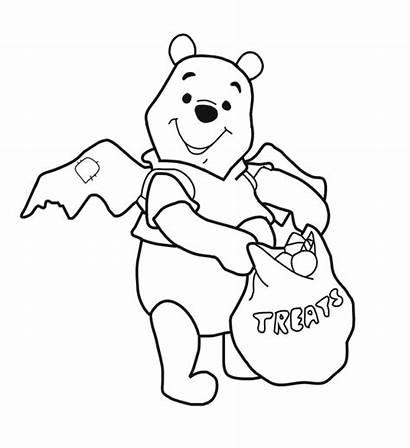 Halloween Disney Coloring Pages Pooh Bear Fun