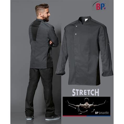 vestes de cuisine veste de cuisine grise liberté de mouvement manches longues