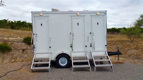 portable restroom trailer style