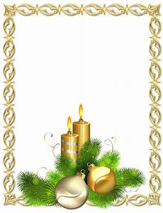 Large Transparent Gold Christmas Photo Frame with Candles ...