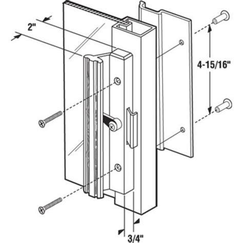prime line 2 quot x 4 15 16 quot mill aluminum sliding door handle set at menards 174
