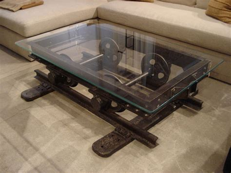 wood and iron table rustic industrial coffee table for living room rustic