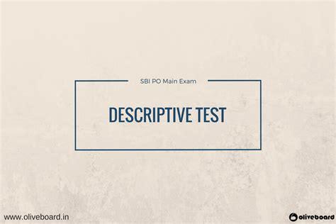 sbi po mains descriptive section preparation video
