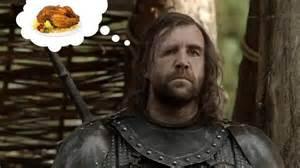 sandor clegane loves chicken   meme