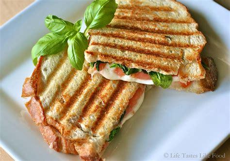 caprese panini caprese panini life tastes like food