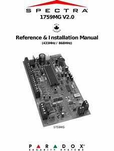 Paradox Security Systems 1759mg Spectra 1759mg User Manual