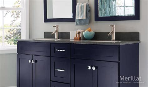 merillat masterpiece bathroom cabinets merillat masterpiece 174 martel in maple midnight painted