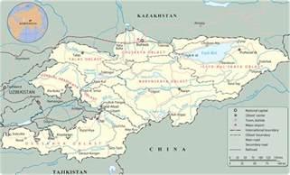 Bishkek Kyrgyzstan Map
