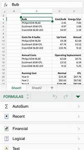 microsoft excel for ios review create and edit With excel documents on iphone