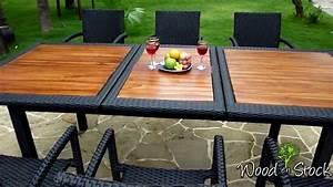 Salon De Jardin En Résine Tressée : salon de jardin en teck et r sine tress e mod le flores ~ Premium-room.com Idées de Décoration