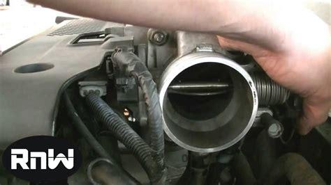 clean  throttle body  maf sensor   car