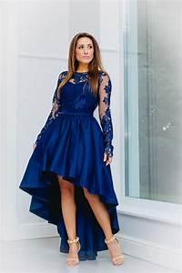 Kleid Hochzeitsgast Lang : vokuhila kleid hochzeitsgast dunkelblau mit langen rmeln kleiderfreuden ~ Eleganceandgraceweddings.com Haus und Dekorationen