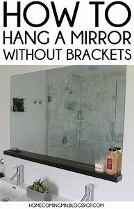 Home coming how to install a bathroom mirror without brackets for How to install a bathroom mirror