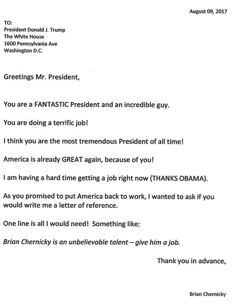 Asking For A Reference Letter by Asking President For A Letter Of Reference