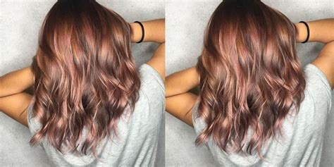 Rose Brown Hair Is The 2018 Pastel Hair Trend That's